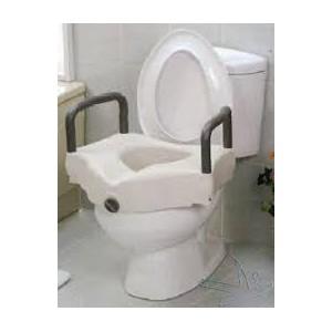 Rialzo wc con braccioli ribaltabili e coperchio - Bagno assistito ...