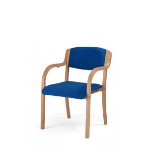 Sedia planet con braccioli in legno per anziani